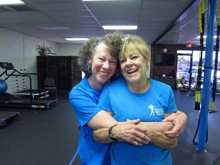 Sally Michaels and Dr. Krystal Greene at the PWR! Gym, Tucson, AZ