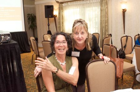 Dr. Melanie Brandabur and Elaine Sulzberger at a recent Parkinson's Disease event.