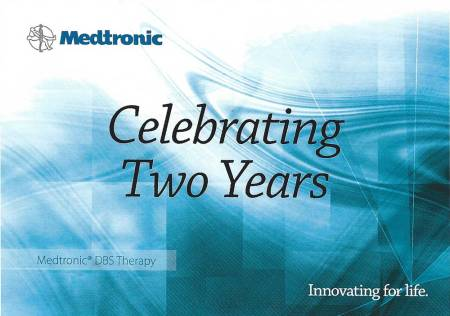 Medtronic's two-year-anniversary card