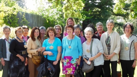 Some—but not all— members of Parkinson's Women Support including