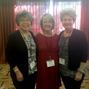 Ann Boylan, Susan Foster, and Darcy Blake, Bay Area attendees at the Parkinson's Disease Foundation Women and PD Conference